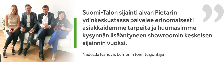 Nadezhda Ivanova, Lumonin toimitusjohtaja